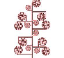 Hypnotic Tree *RED* by Ovidiu Avrămuş