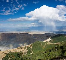 Squall over the Bingham Canyon Mine by Brent Olson