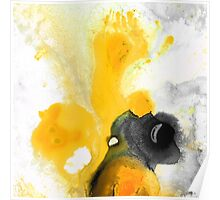 Yellow Orange Abstract Art - The Dreamer - By Sharon Cummings Poster