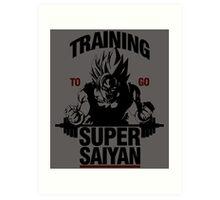 Training to go Super Saiyan Art Print
