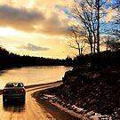 Sunset glow on beaver lake... by Poete100
