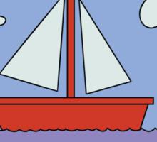 Sail Boat Artwork Sticker