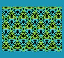 GEOMETRIC design, textiles blue, green by ackelly4