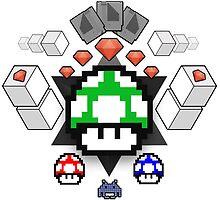 Nerd Coat of Arms, Nintendo Gems by tetrahedron