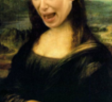 Kim Kardashian Mona Lisa Crying Sticker