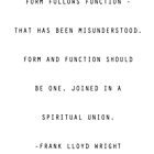 Frank Lloyd Wright Quote by TWCreation