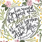 The Spirit of Adoption - Romans 8:15 by Bumble & Bristle