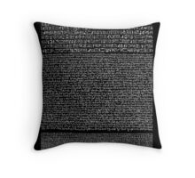 Rosetta Stone Throw Pillow