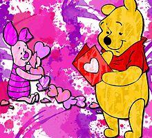 Pooh & Piglet Valentine by LindseyLucy8605
