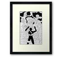 Faces and Figures in the Mist Framed Print