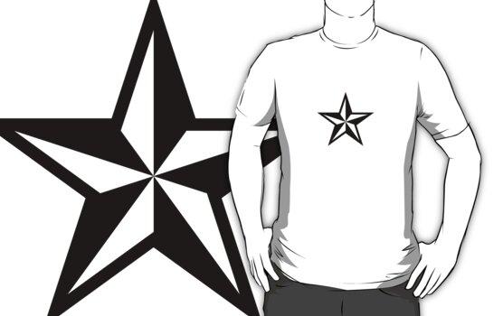 Nautical Star (black print) by rudeboyskunk