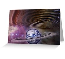 Worm hole in the Spacetime Continuum Greeting Card