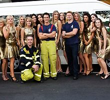 Carlton Fire Brigade meet Finalists of Miss Italia-Australia by Rosina lamberti
