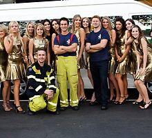 Carlton Fire Brigade meet Finalists of Miss Italia-Australia by Rosina lamberti