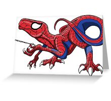 The Amazing Spideraptor! Greeting Card