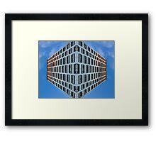 floating urban reality Framed Print