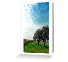 Cornfields, trees and lots of clouds | landscape photography Greeting Card