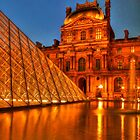The Louvre by night by Michael Matthews