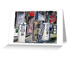 route 66 gas station Greeting Card