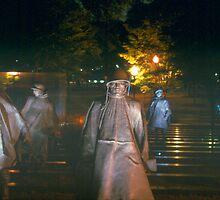 Memorial at night by Tom Miles