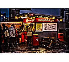 The best hot dog stall in Iceland! Photographic Print
