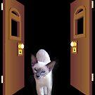 Samantha through the door.. by Siamesecat