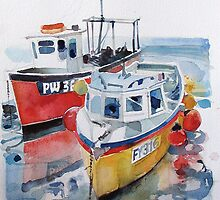 Cornish Fishing Boats by Ray Pethick