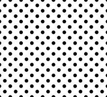 Black and White Polka Dot Spot Pattern by TigerLynx