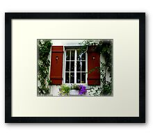 Pretty Window Framed Print