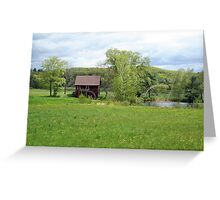 Old Mill with pond Greeting Card