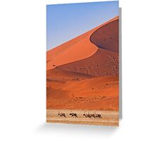Life in the desert Greeting Card