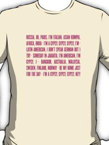 Gypsy Lyrics T-Shirt