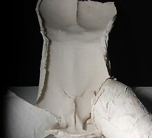 interior of plaster and paris bust by kitza