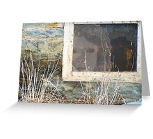 Glimpse of a long Lingering Soul, through an Old Foundation Window Greeting Card