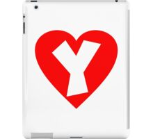 I love Y- Heart Y - Heart with letter Y iPad Case/Skin
