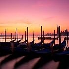 Gondolas at dawn. by naranzaria
