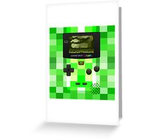 Game Boy Color Minecraft  Greeting Card