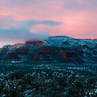 Panoramic Pink Sunset by Candy Gemmill