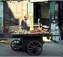 Three Wheeled Street Cart Vendor, Egypt by Mark Ross