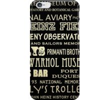 Pittsburgh Pennsylvania Famous Landmarks iPhone Case/Skin
