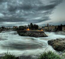 Raging Spokane Falls by Bailey Sampson