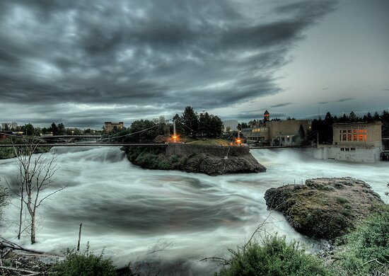 Raging Spokane Falls by Bailey Sampson
