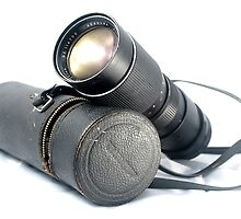 Old Lens and its Case by Matt Ferrell