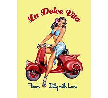 Vespa Scooter Girl - La Dolce Vita  Photographic Print