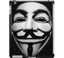 anonymous mask (V for Vendetta)  iPad Case/Skin