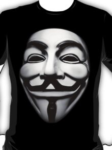 anonymous mask (V for Vendetta)  T-Shirt