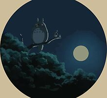 Totoro and The Moon by joshgluck