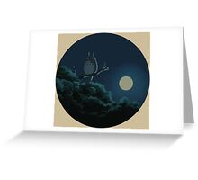 Totoro and The Moon Greeting Card