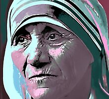 Mother Teresa by squareonearts