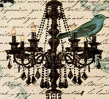 vintage bird lace scripts french chandelier paris by lfang77
